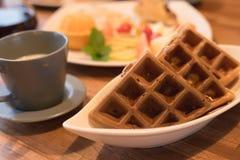 Escena del desayuno Fotografía de archivo