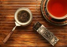 Escena del desayuno del té Imagen de archivo