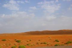 Escena del desierto de Omán Imagenes de archivo