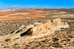 Escena del desierto en Nevada meridional Fotos de archivo