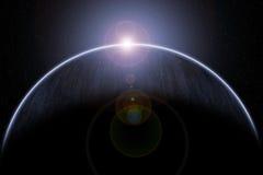 Escena del espacio con la luz Imagen de archivo