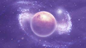 Escena del espacio con los planetas y la nebulosa libre illustration