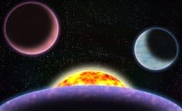 Escena del espacio de la ciencia ficción Imágenes de archivo libres de regalías