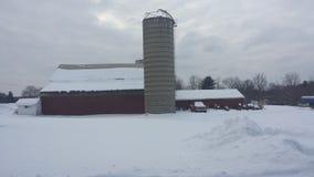 Escena del granero del invierno de Ohio Imágenes de archivo libres de regalías
