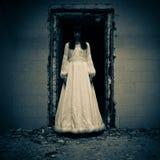 Escena del horror de una novia Imagen de archivo libre de regalías