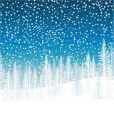 Escena del invierno ilustración del vector