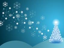 Escena del invierno de la Navidad Fotos de archivo libres de regalías