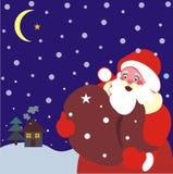 Escena del invierno de la Navidad ilustración del vector