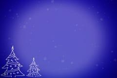 Escena del invierno de la Navidad stock de ilustración