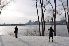 Escena del invierno de Montreal Foto de archivo libre de regalías