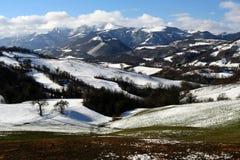 Escena del invierno de Sibillini Foto de archivo libre de regalías