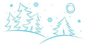 Escena del invierno del vector Foto de archivo libre de regalías
