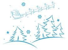 Escena del invierno del vector Fotos de archivo