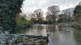 Escena del invierno en el parque Londres de Greenwich Fotos de archivo