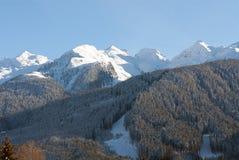Escena del invierno, las dolomías, Italia Imágenes de archivo libres de regalías