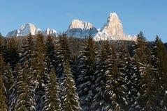 Escena del invierno, las dolomías, Italia Imagen de archivo libre de regalías