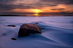 Escena del invierno Nevado Fotos de archivo libres de regalías
