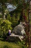 Escena del jardín Foto de archivo