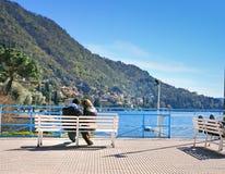Escena del lago Como Foto de archivo libre de regalías