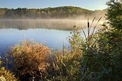 Escena del lago del hdr de la madrugada Fotografía de archivo libre de regalías