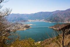 Escena del lago Kawaguchiko Fotos de archivo