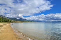 Escena del lago - lago Prespa, Macedonia Imágenes de archivo libres de regalías