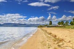 Escena del lago Prespa, Macedonia - lago Imágenes de archivo libres de regalías