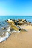 Escena del mar en la isla de Thassos Foto de archivo libre de regalías