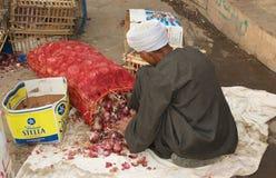 Escena del mercado de calle de Egipto Fotografía de archivo libre de regalías