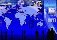 Escena del mercado de cambio de divisas