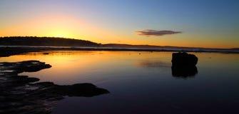 Escena del océano de la puesta del sol Imágenes de archivo libres de regalías