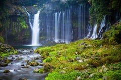 Escena del otoño de la cascada de Shiraito Imagen de archivo libre de regalías