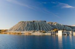 Escena del otoño de la mina de Rummu, Estonia fotos de archivo