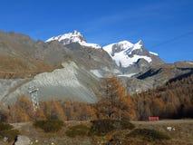 Escena del otoño en Zermatt Imágenes de archivo libres de regalías