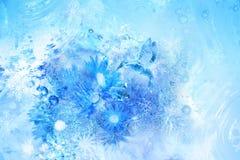 Escena del pájaro del hielo Imagen de archivo libre de regalías