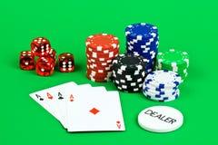 Escena del póker fotos de archivo libres de regalías