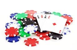 Escena del póker Imágenes de archivo libres de regalías