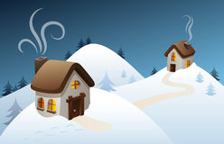 Escena del país del invierno Fotos de archivo
