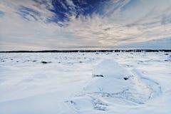Escena del paisaje del invierno Imagenes de archivo