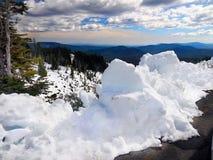 Escena del paisaje del invierno, soporte Hood National Park, Ti Foto de archivo libre de regalías