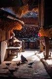Escena del pueblo de la gente de Wa Imágenes de archivo libres de regalías