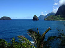 Escena del puerto de Kalaupapa Imagen de archivo