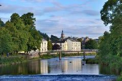 Escena del río de Kendal Imágenes de archivo libres de regalías