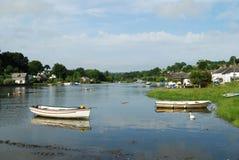Escena del río de la tarde en Lerryn Cornualles Fotografía de archivo