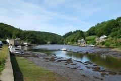 Escena del río en Lerryn Cornualles Fotos de archivo