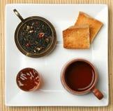 Escena del té del desayuno Imagen de archivo libre de regalías