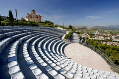 Escena del teatro del verano sobre la ciudad de Trebinje Foto de archivo libre de regalías