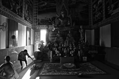 Escena del templo budista en Hua Hin Imágenes de archivo libres de regalías