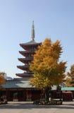 Escena del templo en Asakusa en Tokio Fotos de archivo libres de regalías