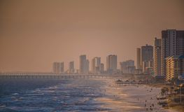 Escena delantera de la playa en la Florida fotos de archivo libres de regalías